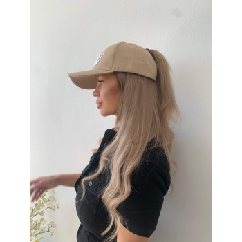 Kaki ponytail cap