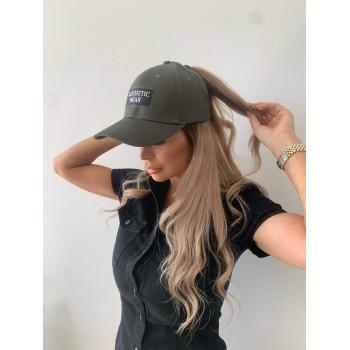 Green box logo ponytail cap