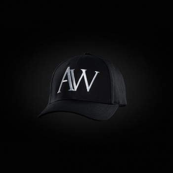 Black AW cap ponytail